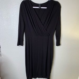 H&M black LS dress